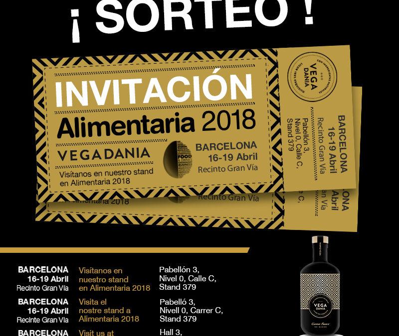 ¡TENEMOS UNA INVITACIÓN DOBLE DE ALIMENTARIA 2018 PARA TÍ!